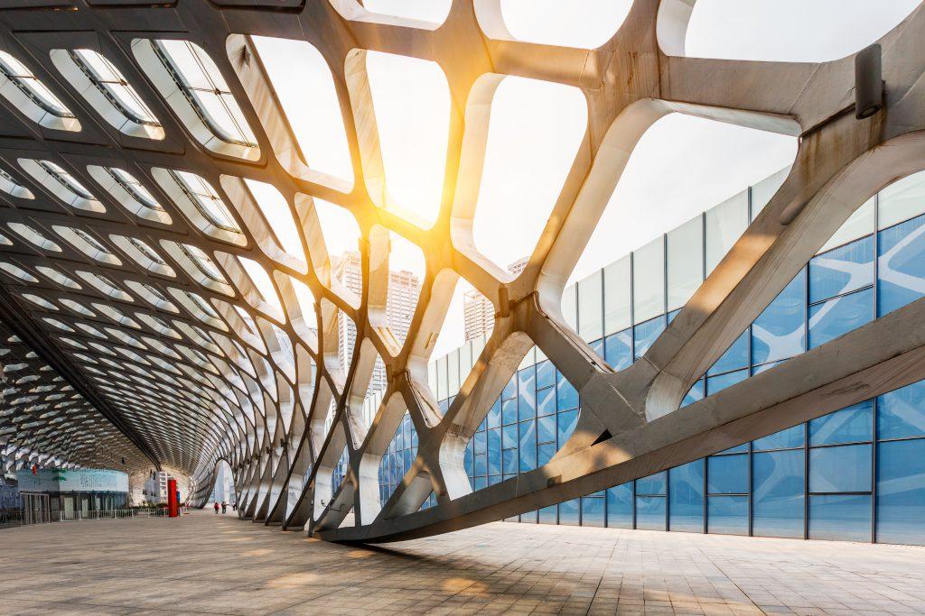 Architecure moderno con techo abstracto en China