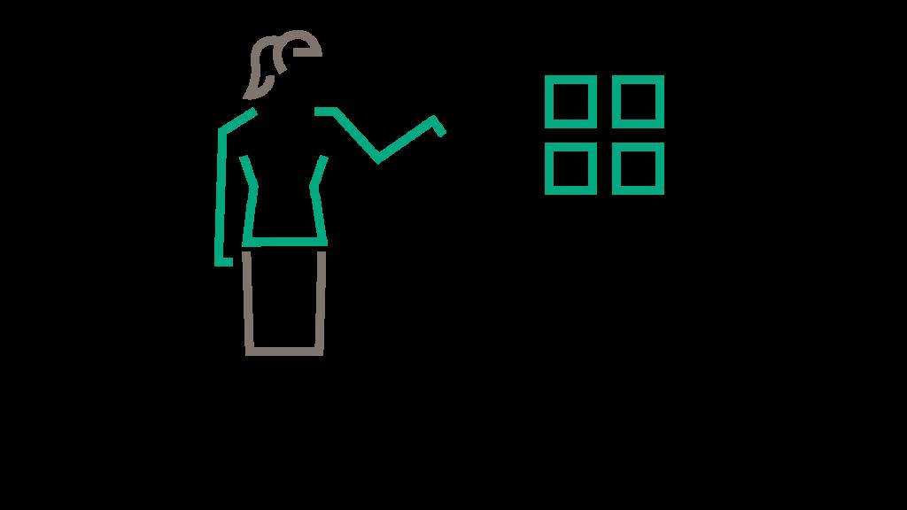 visual storytelling woman teaching