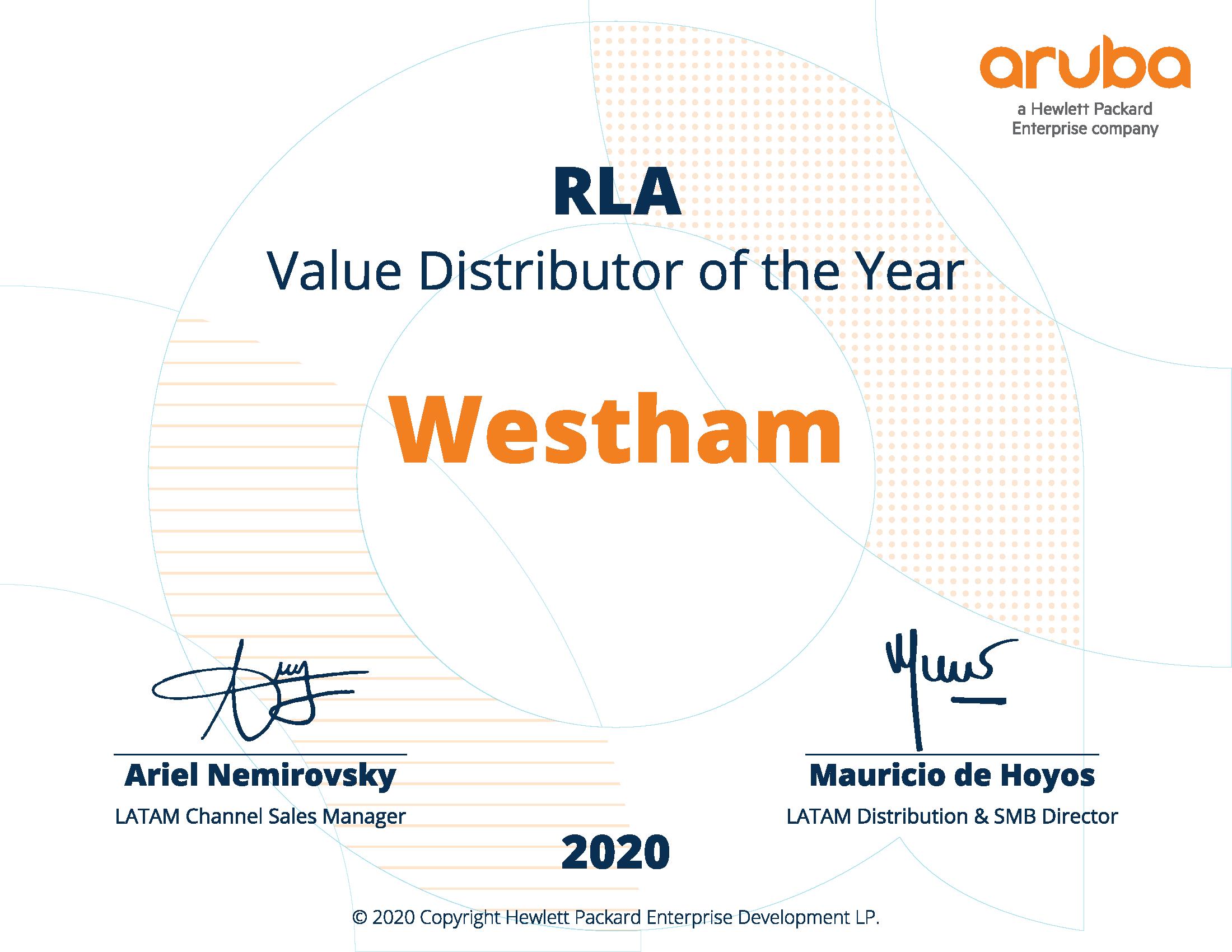 westham top value distributor for Aruba