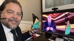 Pancho receiving award